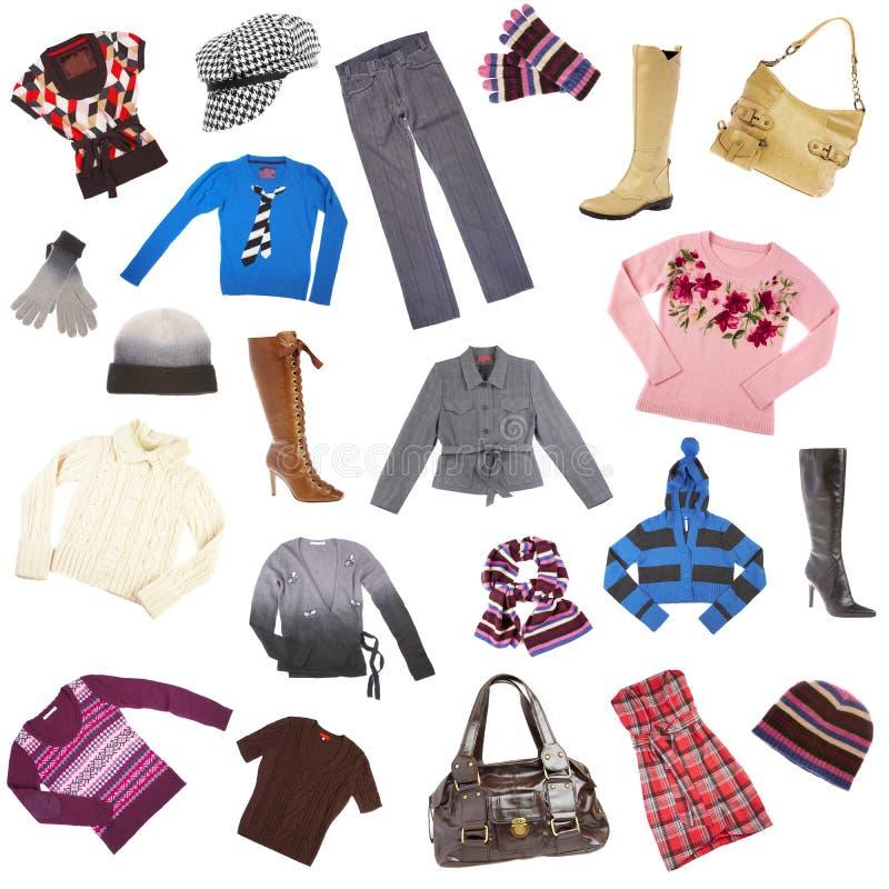 Les vêtements de Madame. Vêtements de l'hiver image libre de droits