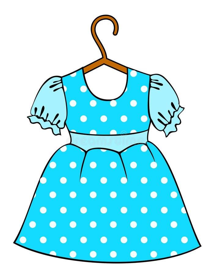 Les vêtements de petit enfant. illustration stock