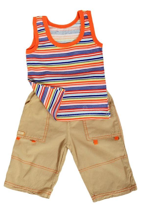 Les vêtements des enfants photographie stock libre de droits