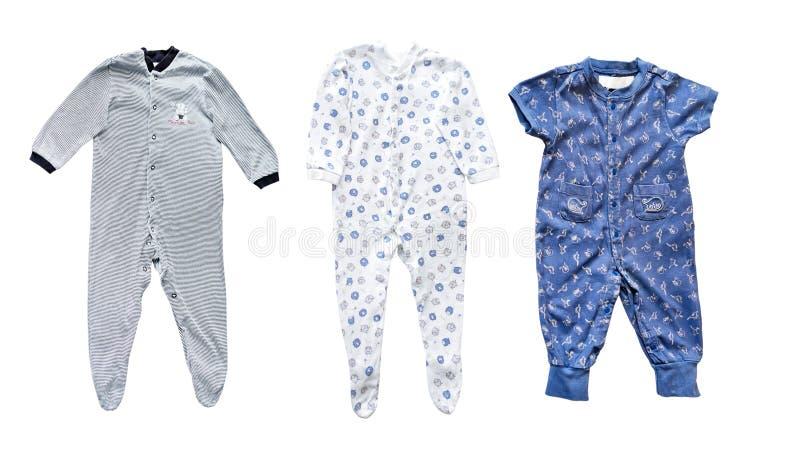 Les vêtements du bébé images stock