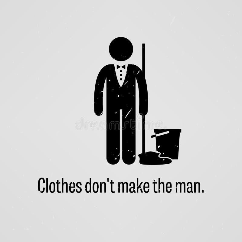 Les vêtements ne font pas l'homme illustration de vecteur