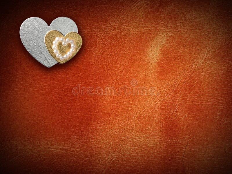 Les vacances cardent avec le coeur comme symbole de l'amour images libres de droits