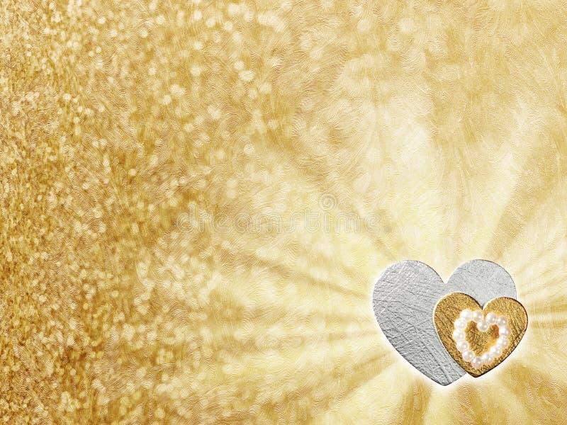 Les vacances cardent avec le coeur comme symbole de l'amour illustration de vecteur