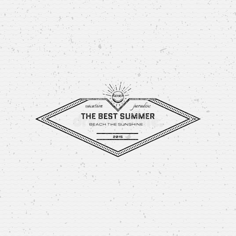 Les vacances d'été badges des logos et des labels pour utilisation illustration de vecteur