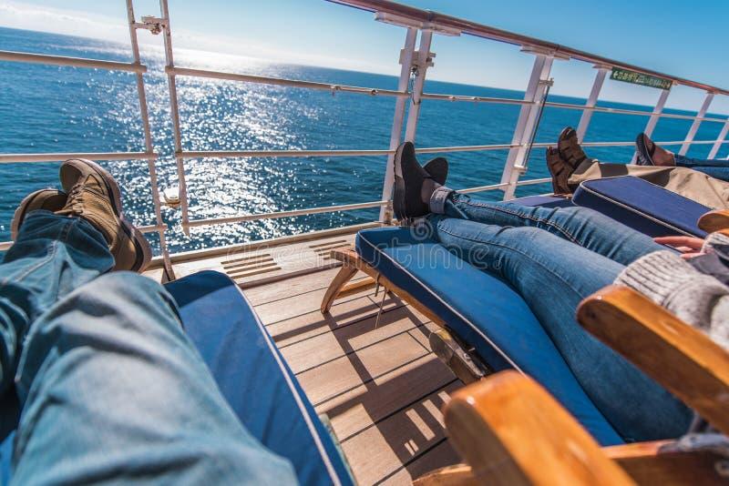 Les vacances de bateau de croisière détendent photo libre de droits