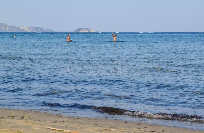 Les vacances de plage image stock