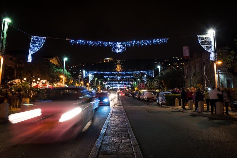 Les vacances des vacances à Haïfa photos libres de droits