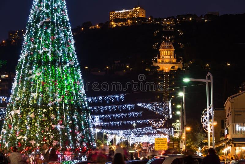Les vacances des vacances à Haïfa photographie stock libre de droits
