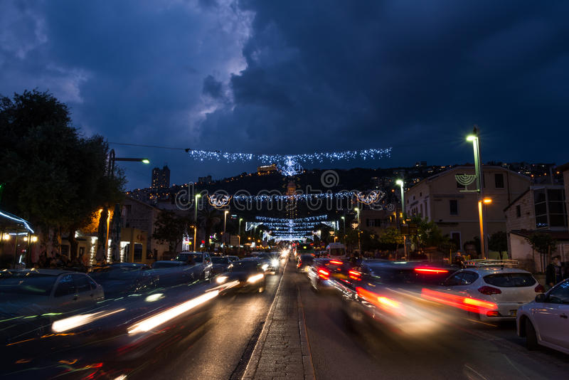 Les vacances des vacances à Haïfa images stock