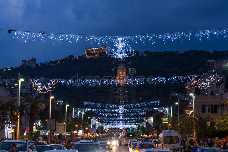 Les vacances des vacances à Haïfa image libre de droits