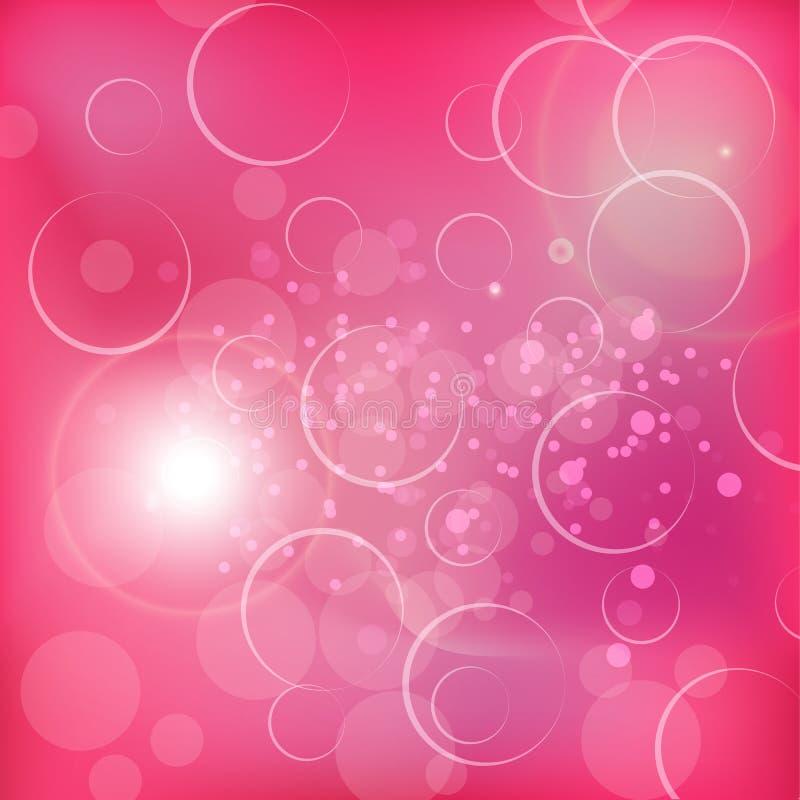 Les valentines soustraient avec les backgrouds roses doux photographie stock libre de droits