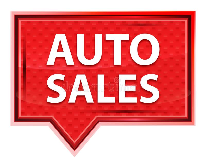 Les ventes automatiques brumeuses ont monté bouton rose de bannière illustration stock