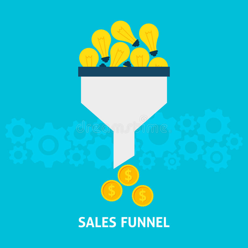 Les ventes dirigent convertir des idées en concept plat d'argent illustration libre de droits