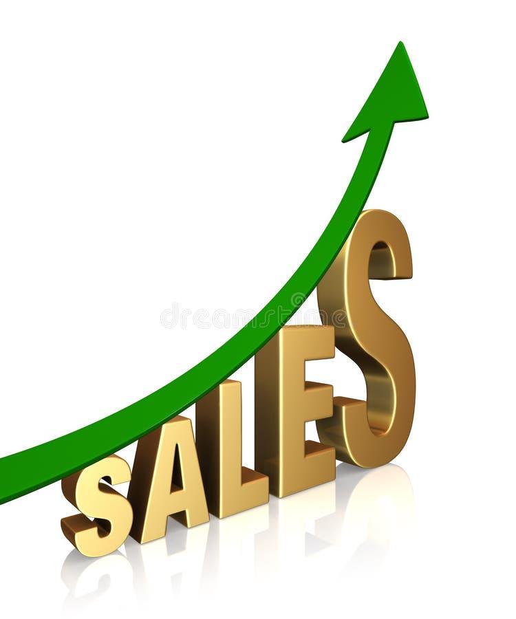 Les ventes sont en hausse ! illustration libre de droits