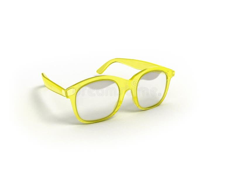 Les verres d'oeil d'isolement sur 3d blanc rendent illustration stock