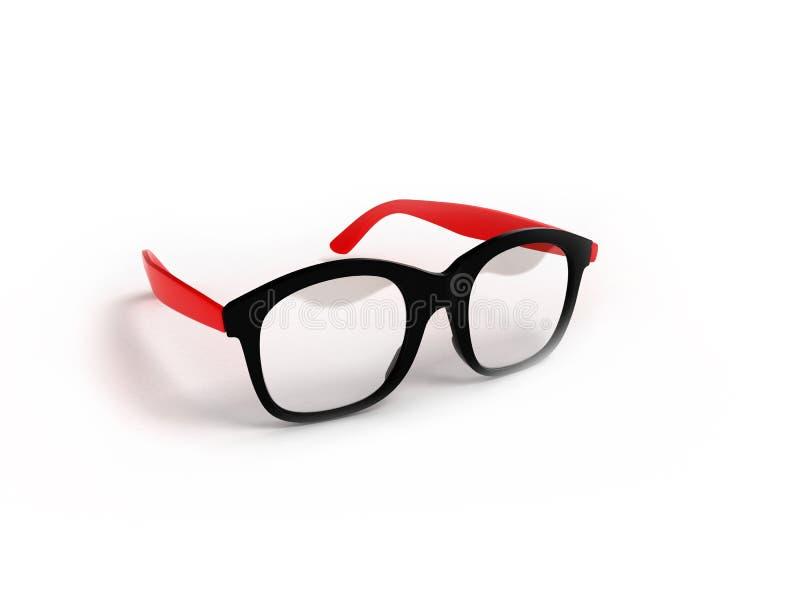 Les verres d'oeil d'isolement sur 3d blanc rendent illustration libre de droits