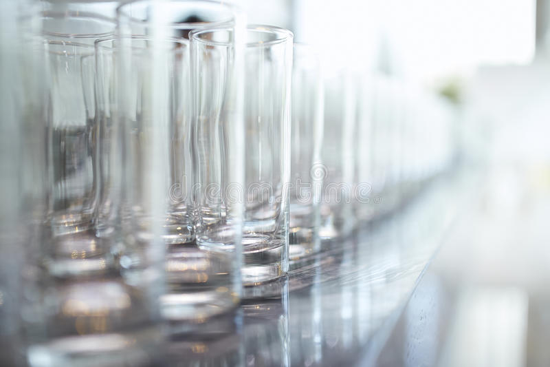 Les verres vident photographie stock libre de droits