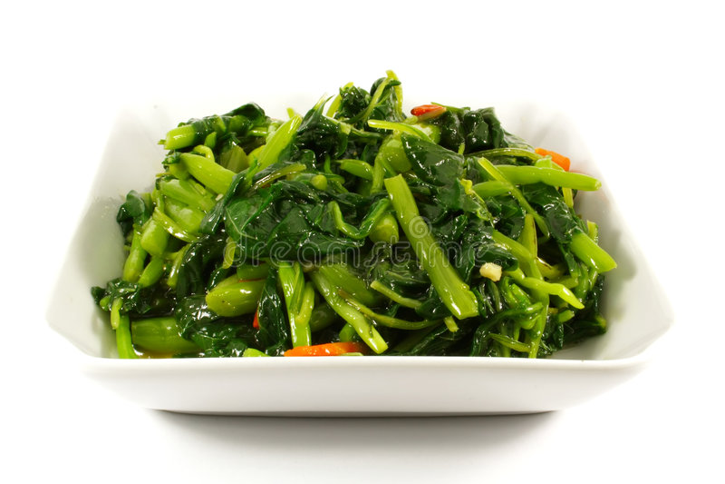 Les verts sains ont cuit des légumes à la vapeur photos stock