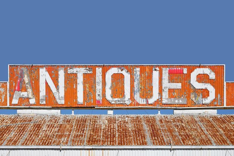 Les vieilles antiquités signent image libre de droits