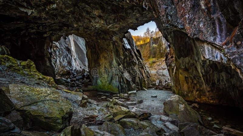 Les vieilles mines d'ardoise chez Hodges ?troitement images libres de droits