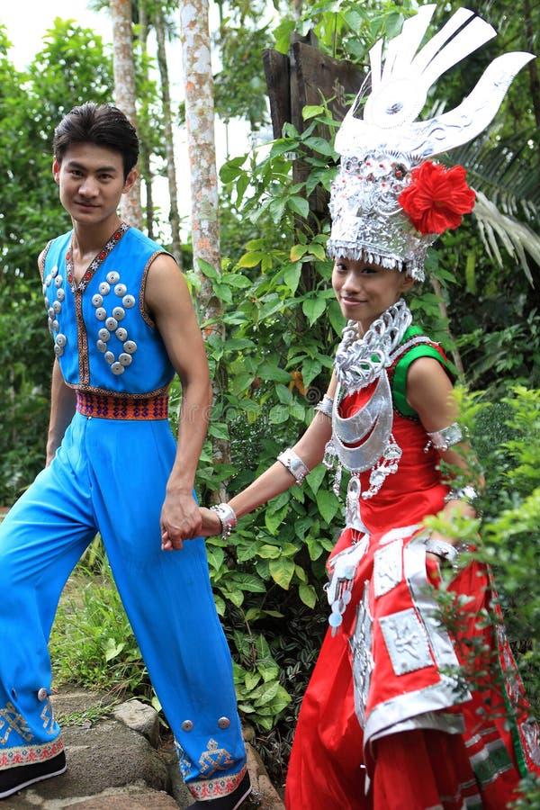 Les vies de Li d'indigènes d'île de Hainan images libres de droits