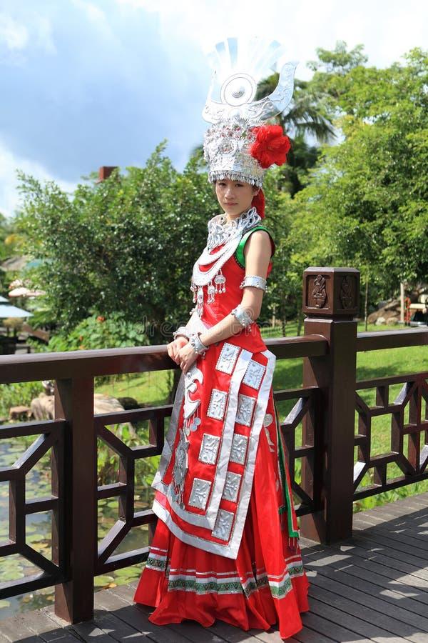 Les vies de Li d'indigènes d'île de Hainan image libre de droits
