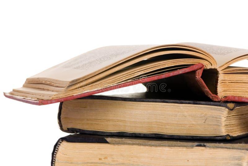 Les vieux livres ouvrent 4 images libres de droits