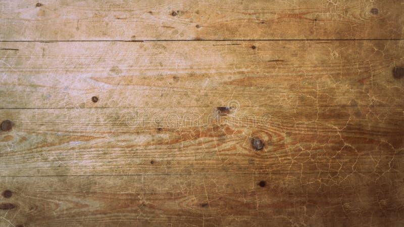 Les vieux panneaux de plancher en bois de pin détaillent le fond abstrait de texture de surface grunge de modèle images libres de droits