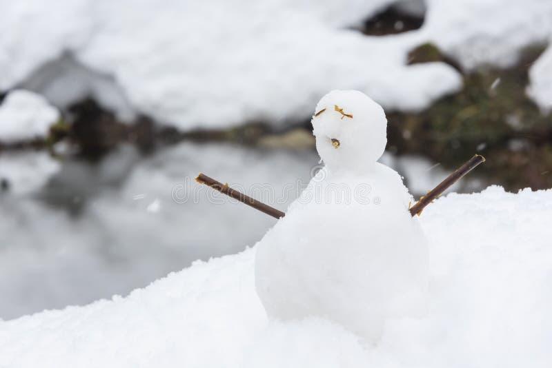 Les villages historiques de Shirakawa-vont dans un jour neigeux photo stock