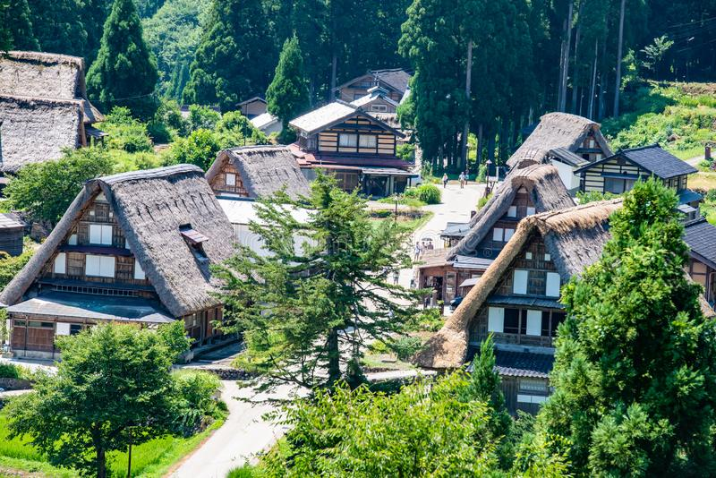 Les villages historiques de Shirakawa-vont et Gokayama, Shirakawa-Mura, Gifu-ken, Japon photographie stock