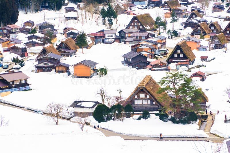 Les villages historiques de Shirakawa-vont, Gifu, Japon images stock