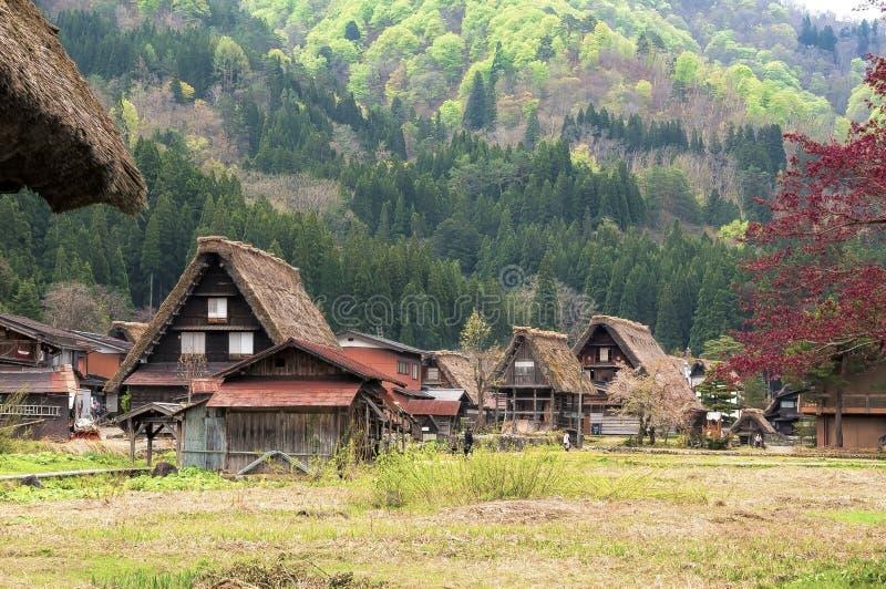 Les villages historiques du  de Shirakawa-gÅ images libres de droits