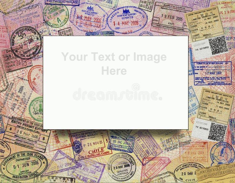 Les visas de passeport - fond - ajoutent le texte photo libre de droits