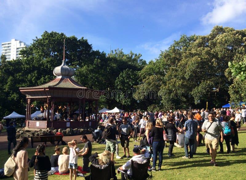 Les visiteurs en Albert se garent à Auckland - au Nouvelle-Zélande image stock