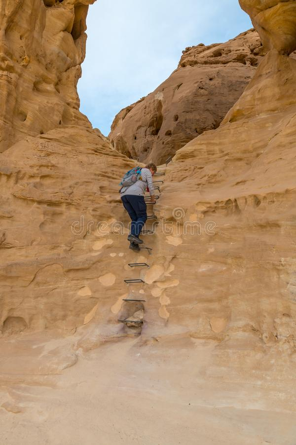 Les vo?tes en parc national de timna photographie stock