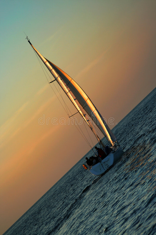 Les voiles d'or photographie stock