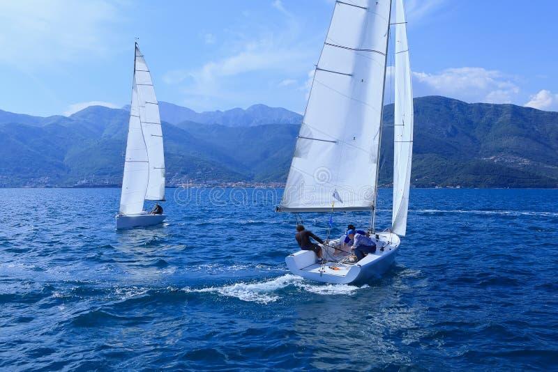 Les yachts de navigation photographie stock libre de droits