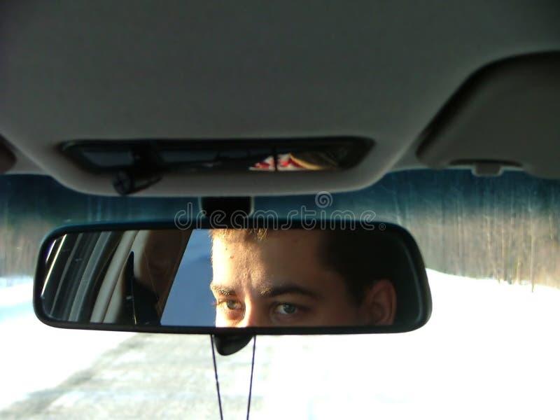 Les yeux de jeune homme photo stock