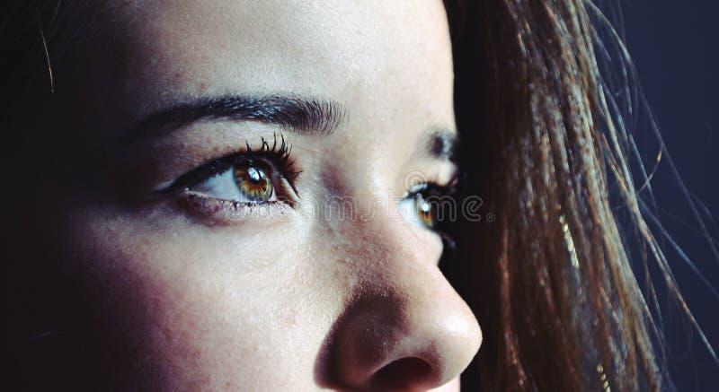 Les yeux de la fille photo stock
