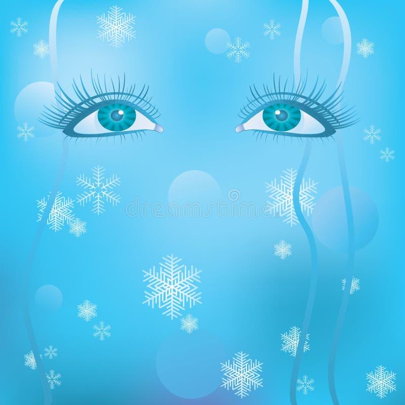 Les yeux des femmes illustration libre de droits