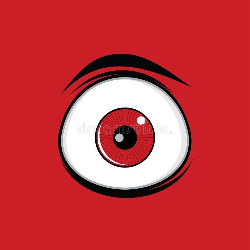 Les yeux verts drôles de bande dessinée pour des bandes dessinées conçoivent l'art illustration de vecteur
