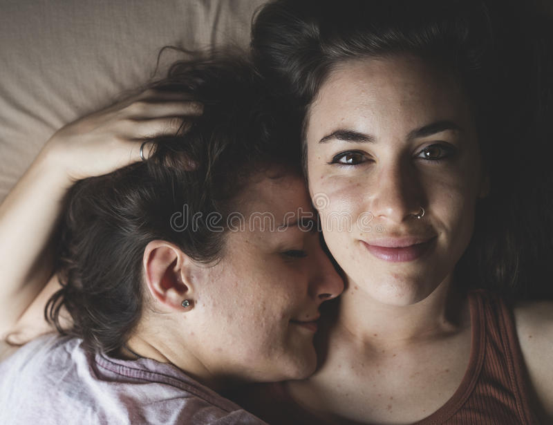 Download Lesbian Couple Together Indoors Concept Stock Image - Image of hugging, latin: 85879939