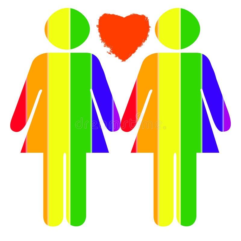 Lesbian Pride royalty free illustration