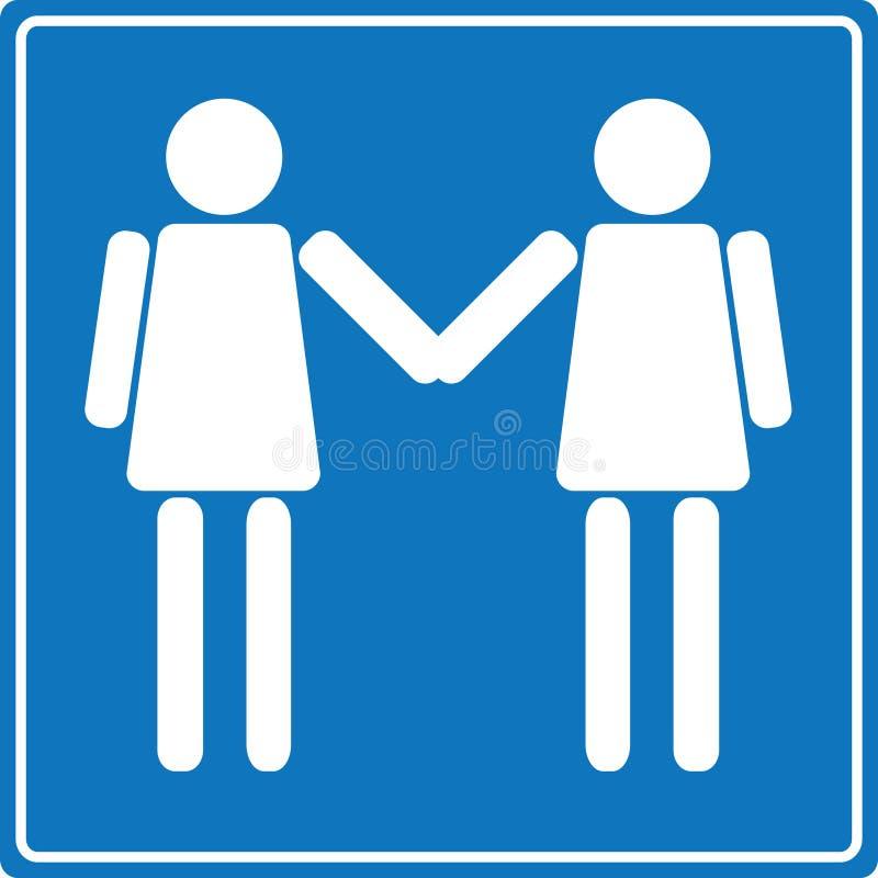 lesbian znaka powitanie ilustracja wektor