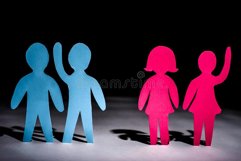 Lesbians and gays for same-sex marriage. Discrimination rally strike people homosexual royalty free stock photo
