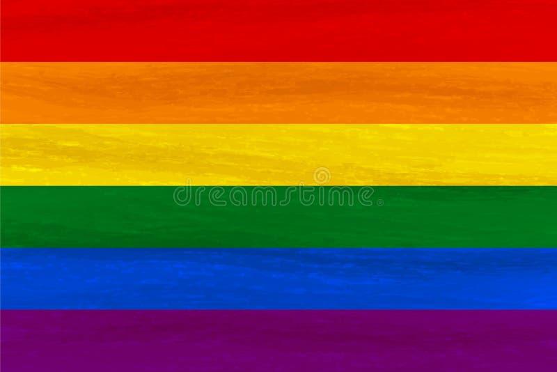 Lesbica, gay, bisessuale, bandiera di orgoglio del transessuale LGBT Fla dell'arcobaleno illustrazione di stock