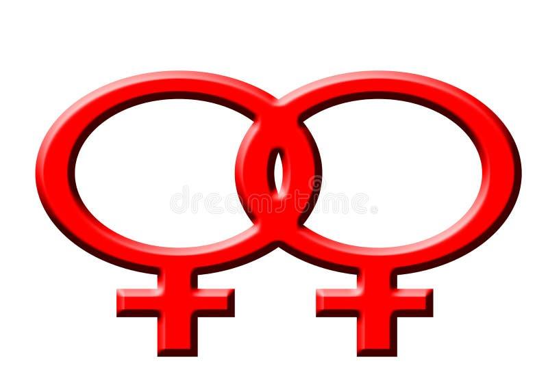Lesbienne stock illustratie