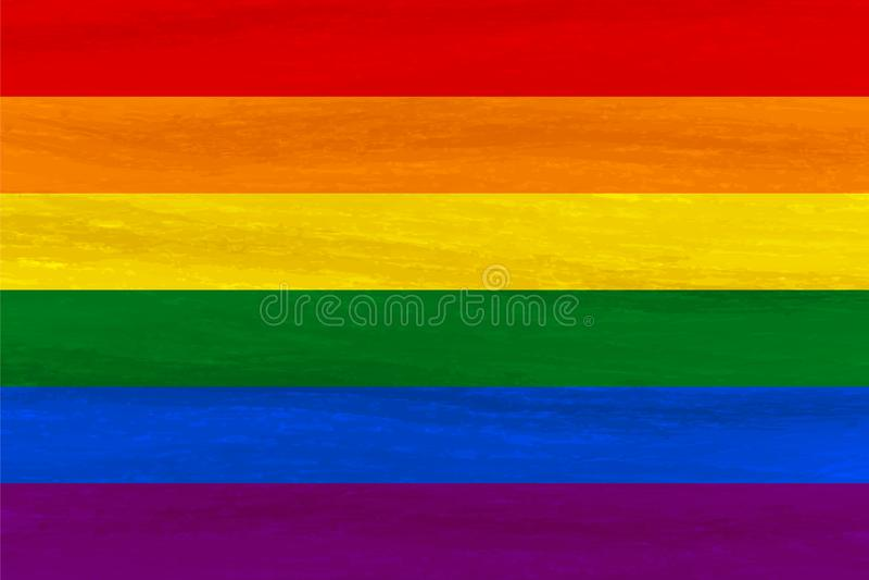 Lesbijka, homoseksualista, biseksualny, transgender LGBT dumy flaga Tęczy fla ilustracji