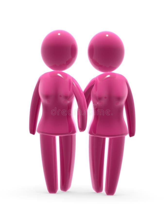 Lesbisch paar vector illustratie