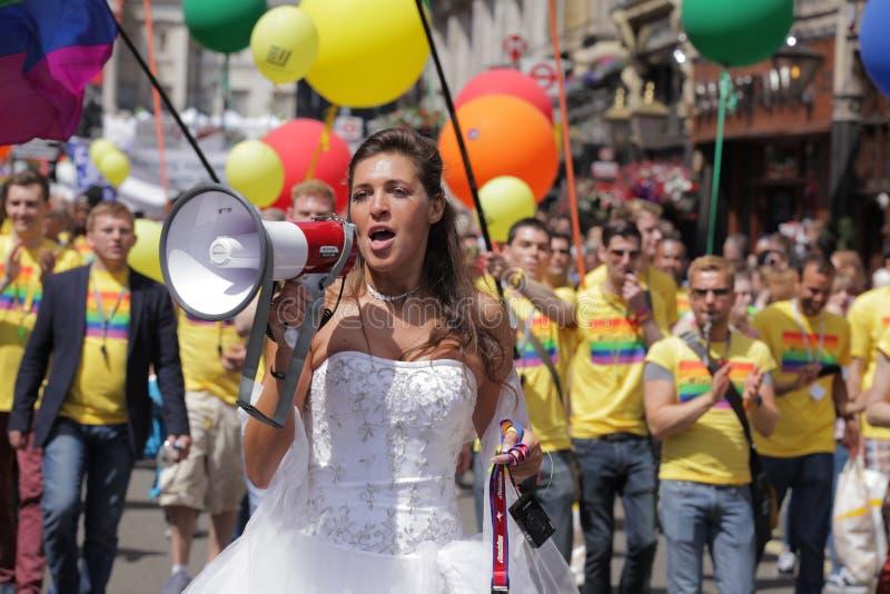 Lesbische bruid royalty-vrije stock afbeelding